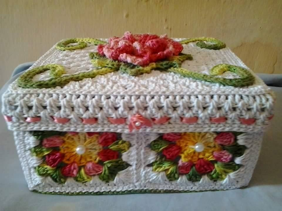 Une autre photo de BOX IN CROCHET ++++   – Örgü dersleri