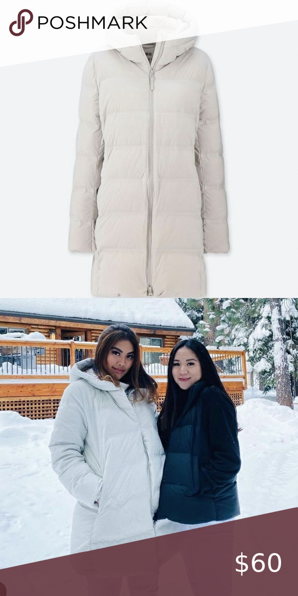 Uniqlo puffer jacket white knee length in 2020 Uniqlo