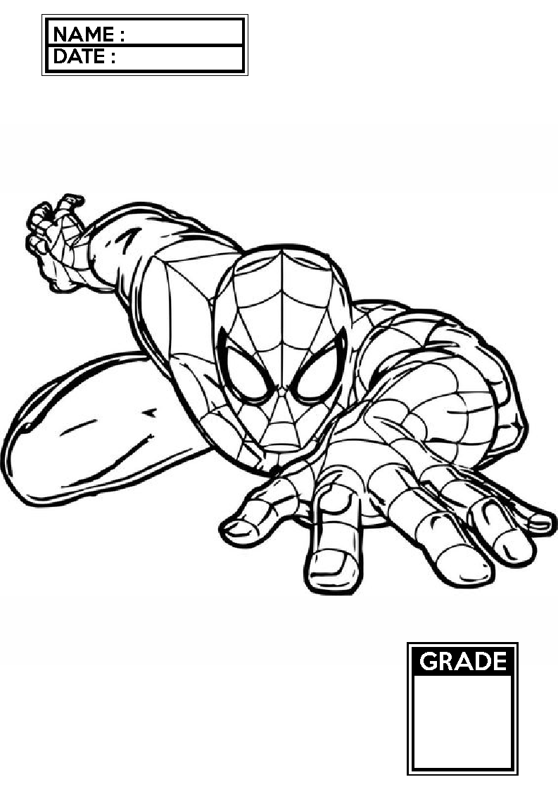 Spider Man Creeping Spiderman Coloring Pages Spiderman Coloring Disney Coloring Pages Coloring Pages