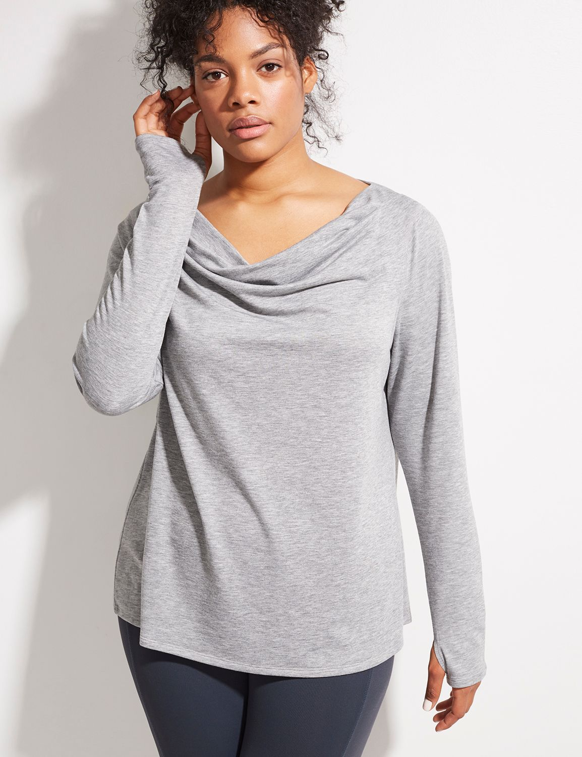 Spa Drape-Neck Yoga Top (original price, $44.95) available at #Maurices