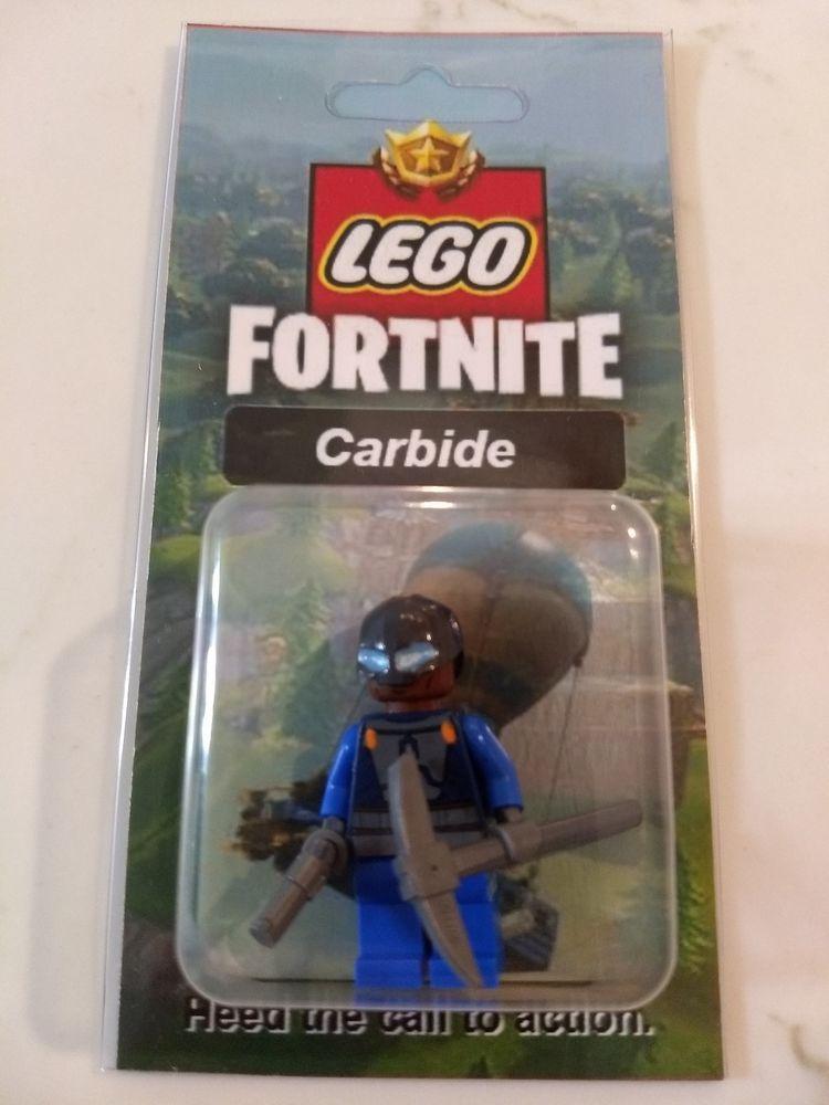 New Lego Custom Carbide Minifig Fortnite Battle Royale Skins Pickaxe