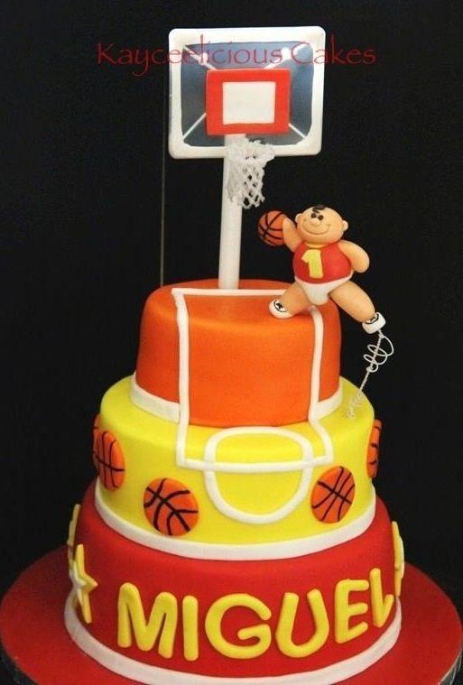 Basketball Cake Cumple Nelsito Pinterest Cake Birthdays And