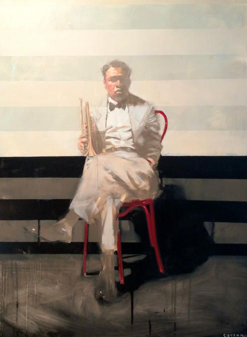 Michael Carson. love the use of stripes. I use stripes with everything