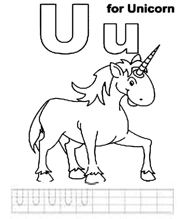 Letter U Is For Unicorn Coloring Page Bulk Color Unicorn Coloring Pages Coloring Pages Lettering