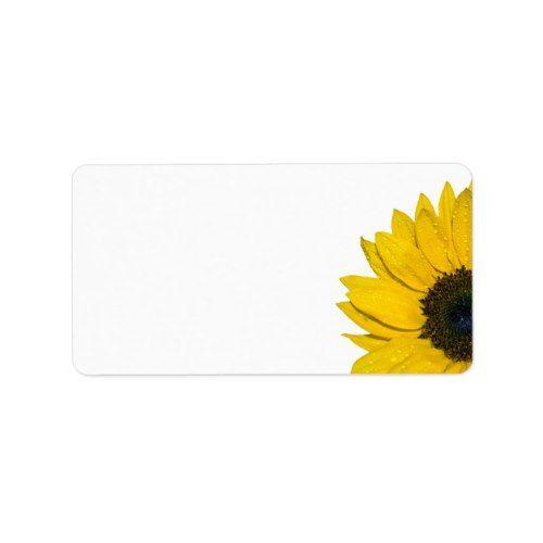 Sunflower Wedding Or General Blank Address Labels