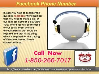 May I place a call at Facebook Phone number 1-850-266-7017