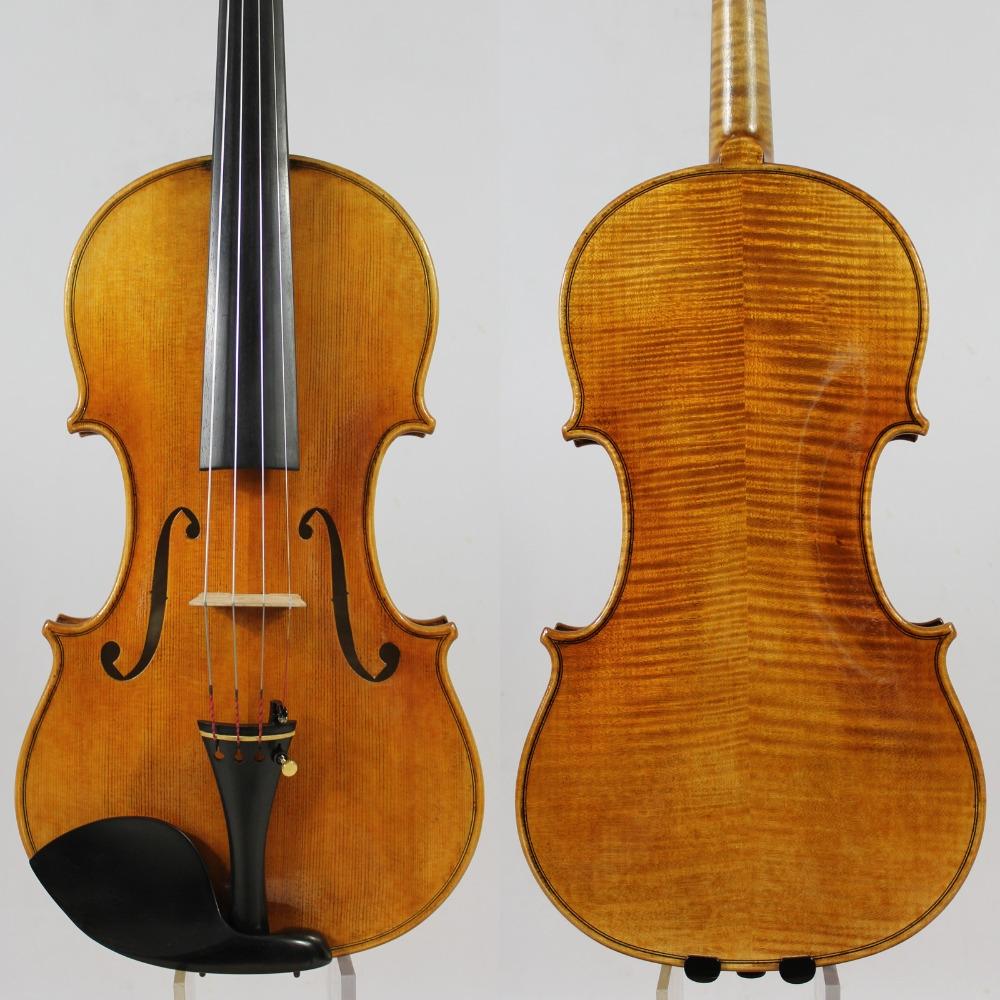 213.75$  Buy here  - Copy Guarnieri 'del Gesu' Violin #182 Professional Violin Musical Instrument+Case, Bow,Rosin,Free Shipping!Aubert Bridge!