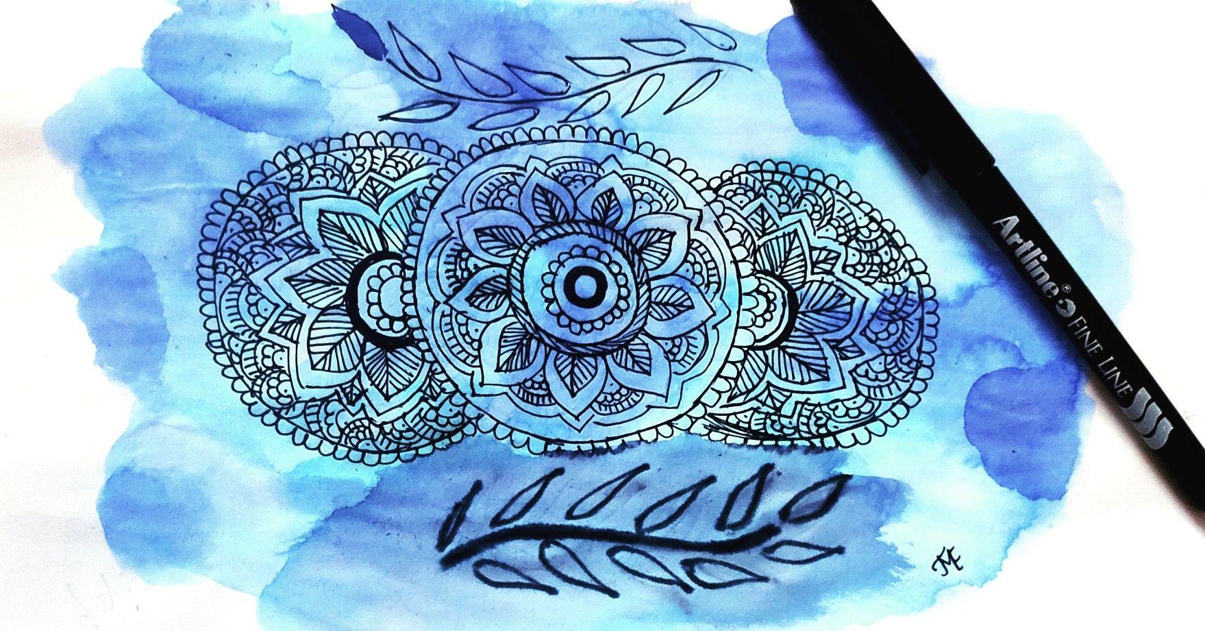 Please do Follow Me on Instagram @ artly_creative_ #artoftheday #artoninstagram #artlycreative #mandala #mandalaart #watercolour #selftaught #creative