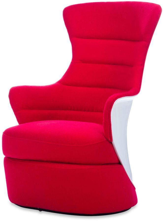 Baxton Studio Conundrum Armchair in Red