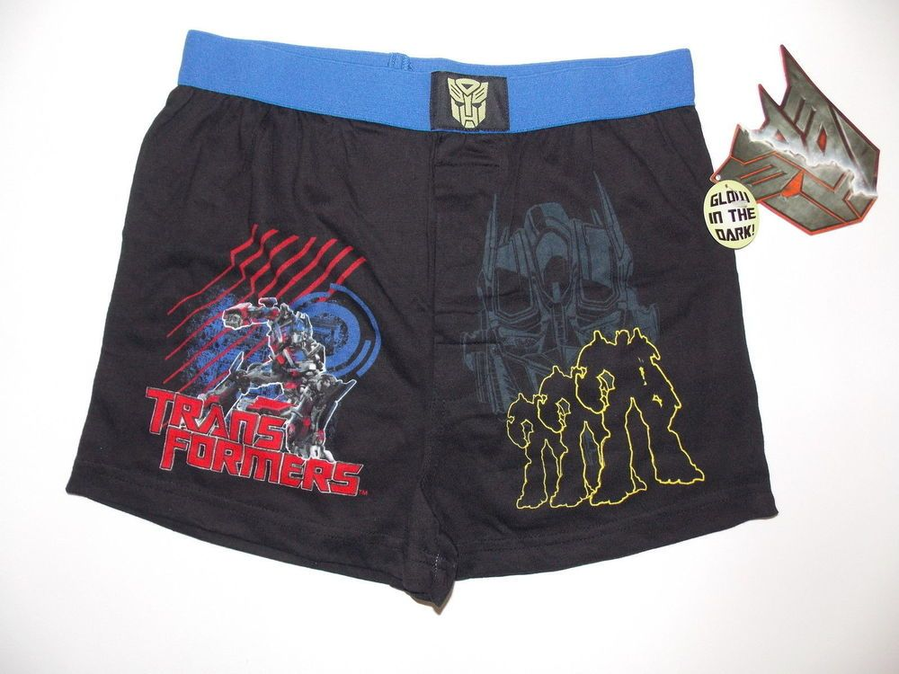 7c656bcd52 NWT Transformers GLOW IN THE DARK soft cotton Boxer shorts for BOYS<M # Transformers #Boxershorts