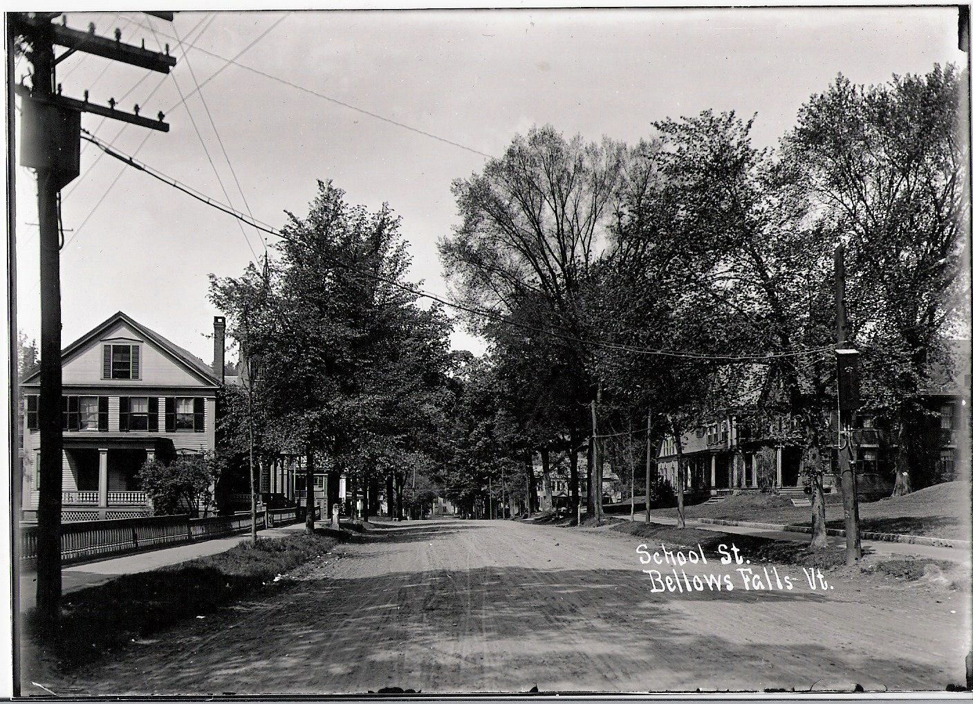 Historic Photos Bellows Falls Vt School Street Bellows Falls Photo Vermont