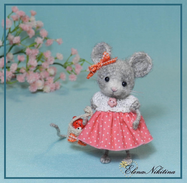 little mouse ♡ Поделки в виде мыши, Вязание крючком медведь