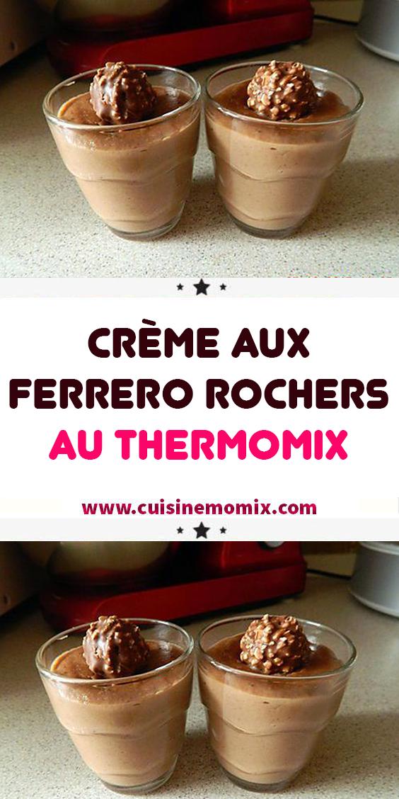 Crème aux Ferrero rochers au Thermomix