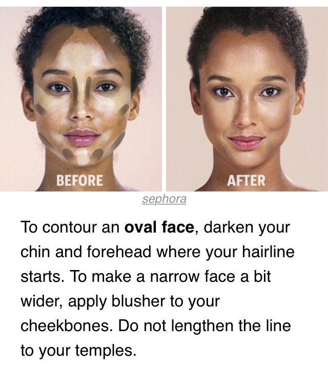 contour oval face make up pinterest visage ovale maquillage visage et maquillage. Black Bedroom Furniture Sets. Home Design Ideas