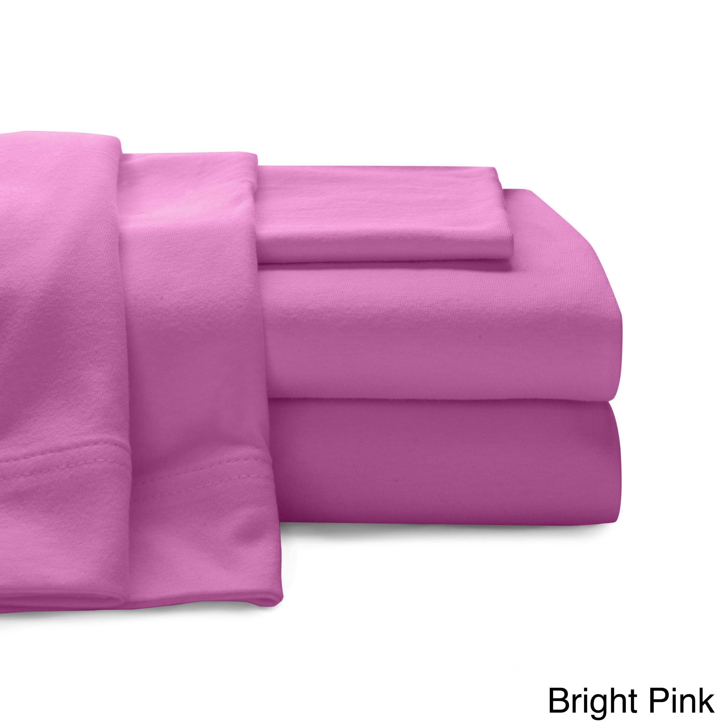100 Percent Cotton Luxury Jersey Bed Sheet Set Cotton Sheet Sets