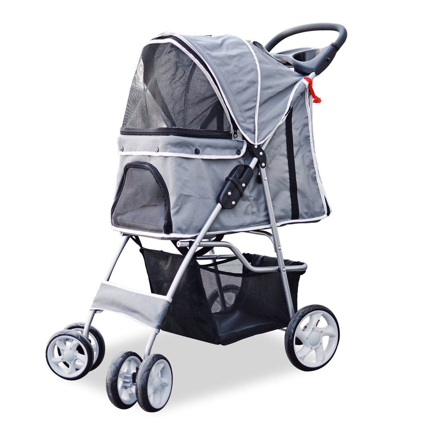 PetsN\'all Foldable Pet Stroller - Gray *** To view further, visit ...