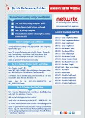 Netwrix Windows Server audit checklist  Free Cheat Sheet for