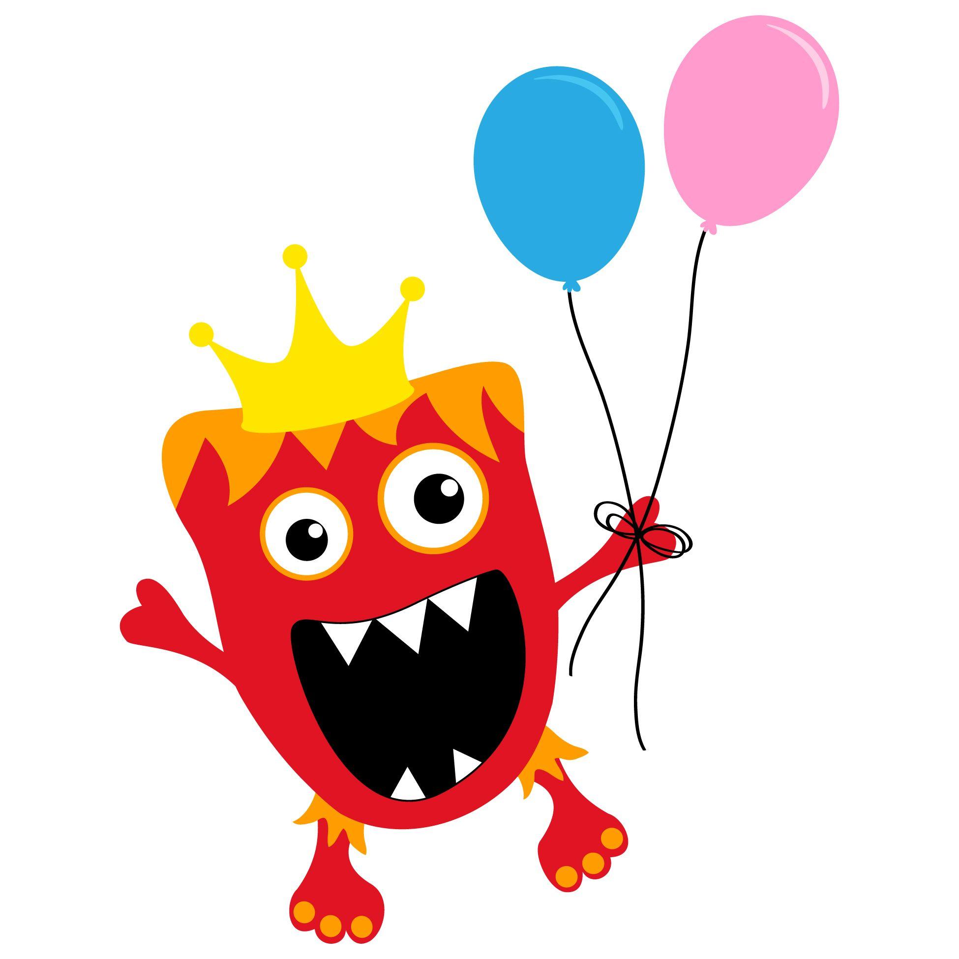Red Birthday Monster Monster Crafts Monster 1st Birthdays