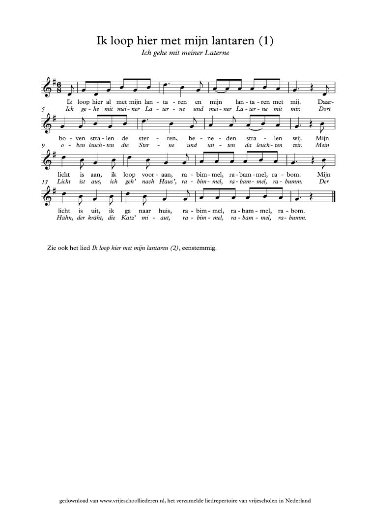Ik Loop Hier Met Mijn Lantaren 1 Vrijeschoolliederen Sint Maarten Donker Kinderliedjes