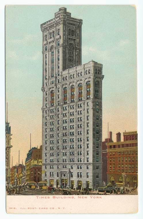 1904 New York Times Moves Its Offices To What Is Now