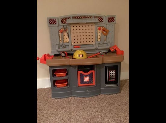 kids home depot tool bench with additional accesories play work