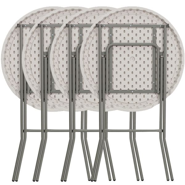 rhinolite 32 round plastic folding high top cocktail table 43 5 bar height folding steel. Black Bedroom Furniture Sets. Home Design Ideas