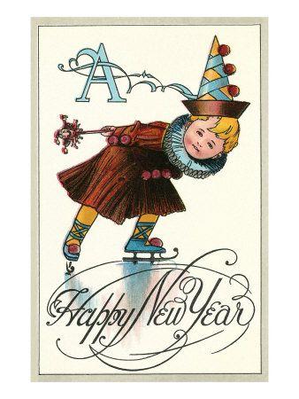 Happy New Year - vintage