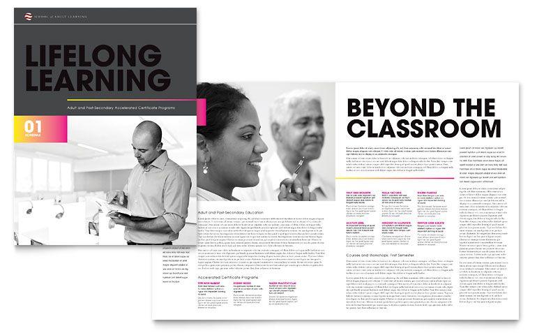 Adult Education Brochure Template Design branding ideas - brochures templates word