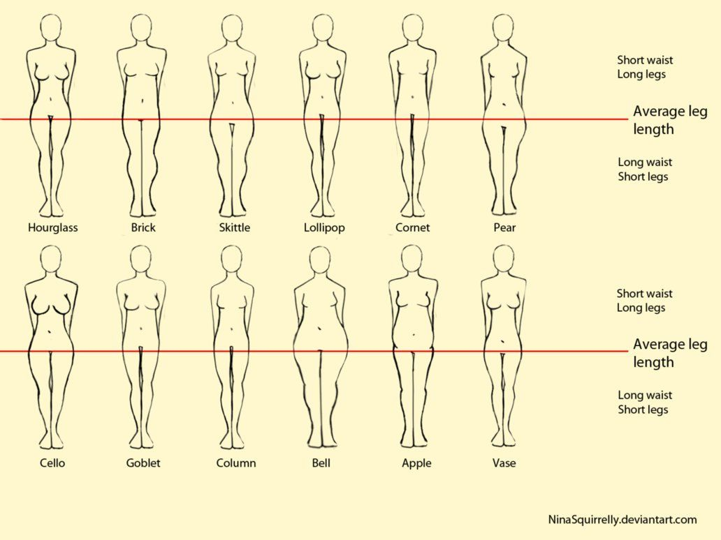 12 realistic woman body shape chart by ~NinaSquirrelly on deviantART ...