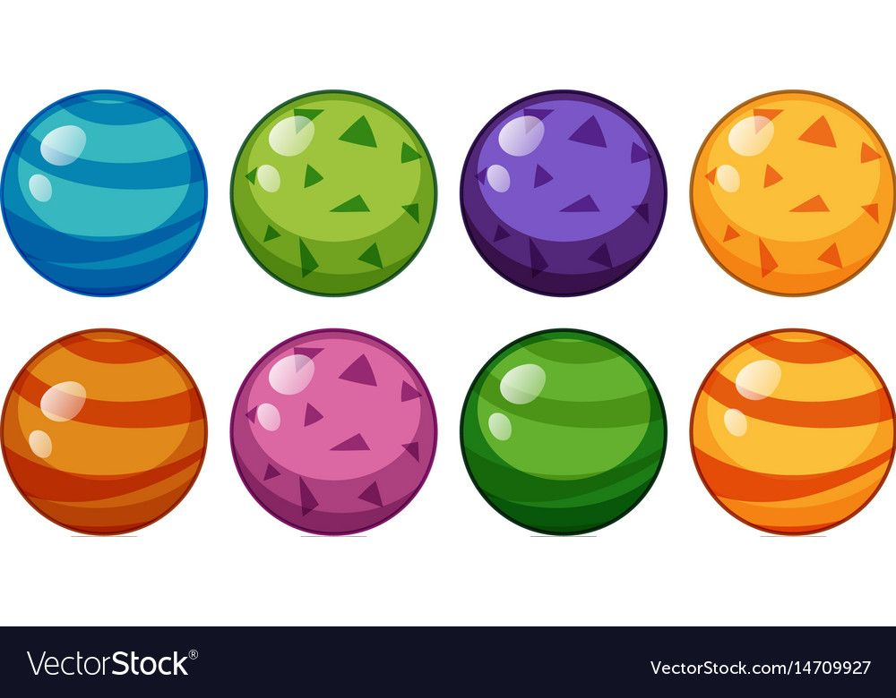 Round Beads In Different Design Vector Image On Vectorstock Kindergarden Activities Illustration Design Color Shapes