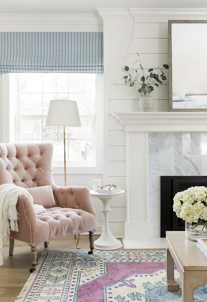 Tufted Velvet Chair - Blush Pink Julienne Chair Fabric Velvet Rosewater Source On Home Bunch #TuftedVelvetChair | House Interior, Home Interior Design, Interior