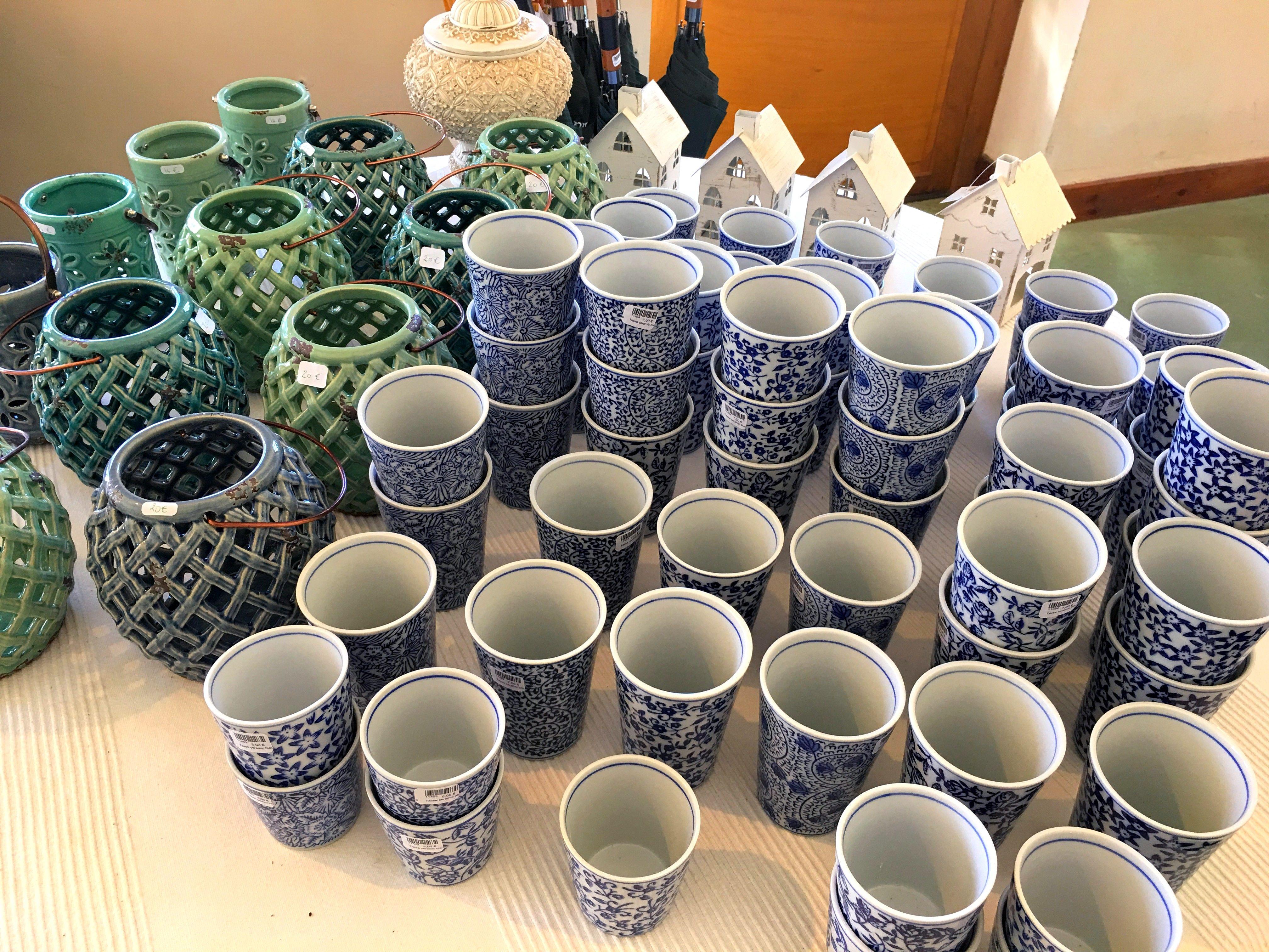 De jolies nuances de bleu et de vert pour cette collection de