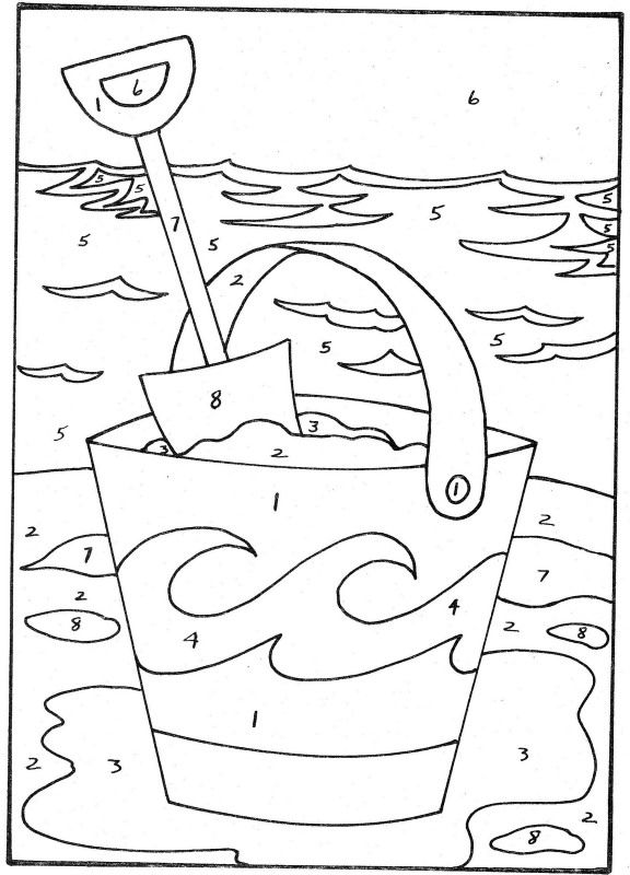 Color by number | Summer coloring pages, Coloring pages ...