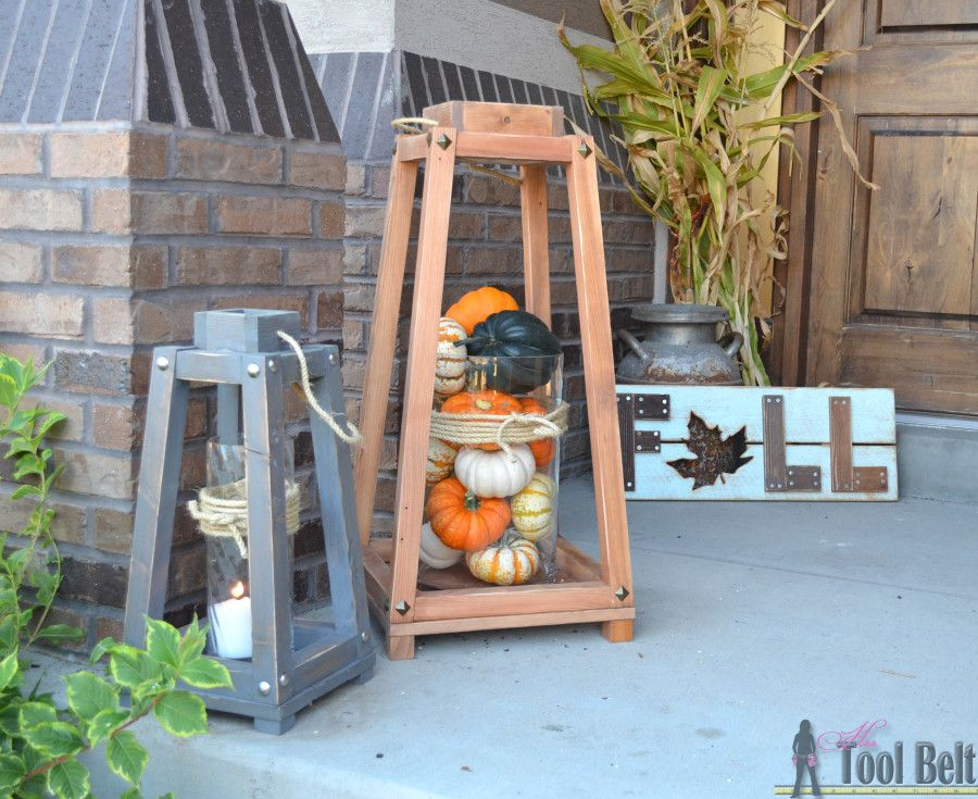 Rustic wood lanterns rustic wood rustic charm and front porches add a little rustic charm to your front porch or home decor with these easy rustic solutioingenieria Image collections