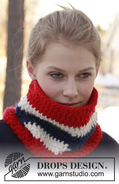 """Calentador de cuello DROPS, en ganchillo / crochet, en """"Eskimo ..."""