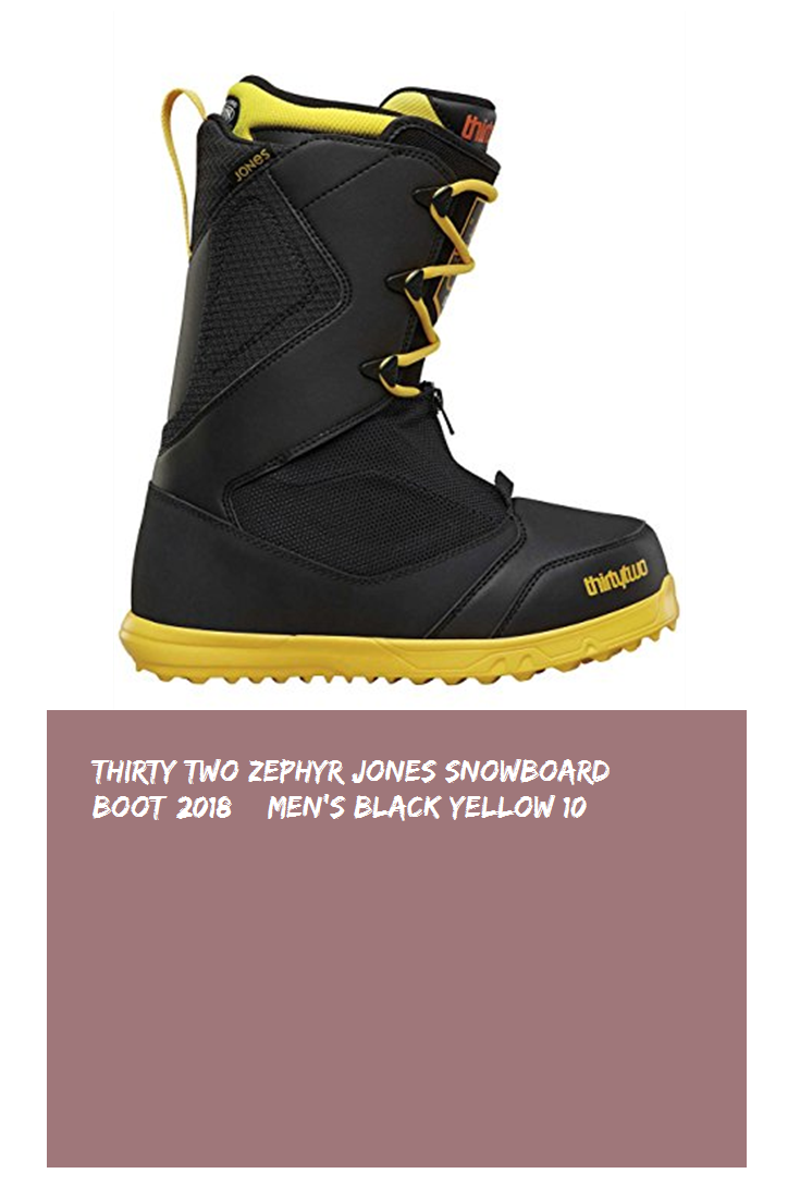 8480c14aa Thirty Two Zephyr Jones Snowboard Boot 2018 – Men's Black/Yellow 10 #hot