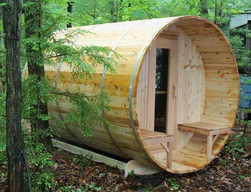 The barrel sauna