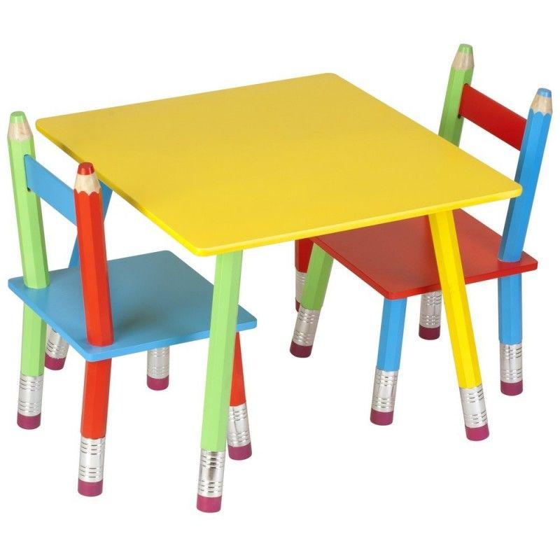 Table Design Enfant Achat Vente Tables Design Enfants Mobilier Enfant Table Enfant Crayon De Bois Chaise