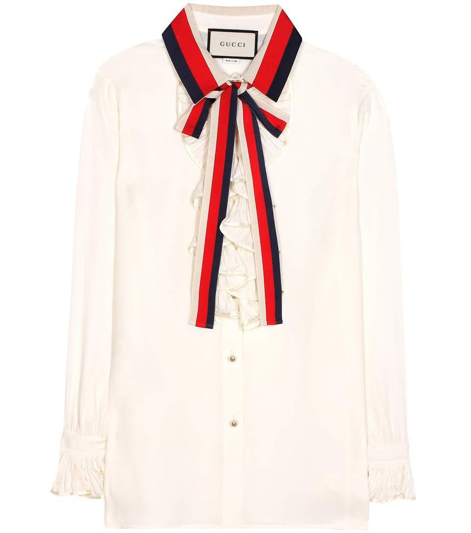 8bc13918d GUCCI Silk blouse. #gucci #cloth #tops | Gucci in 2019 | Gucci ...