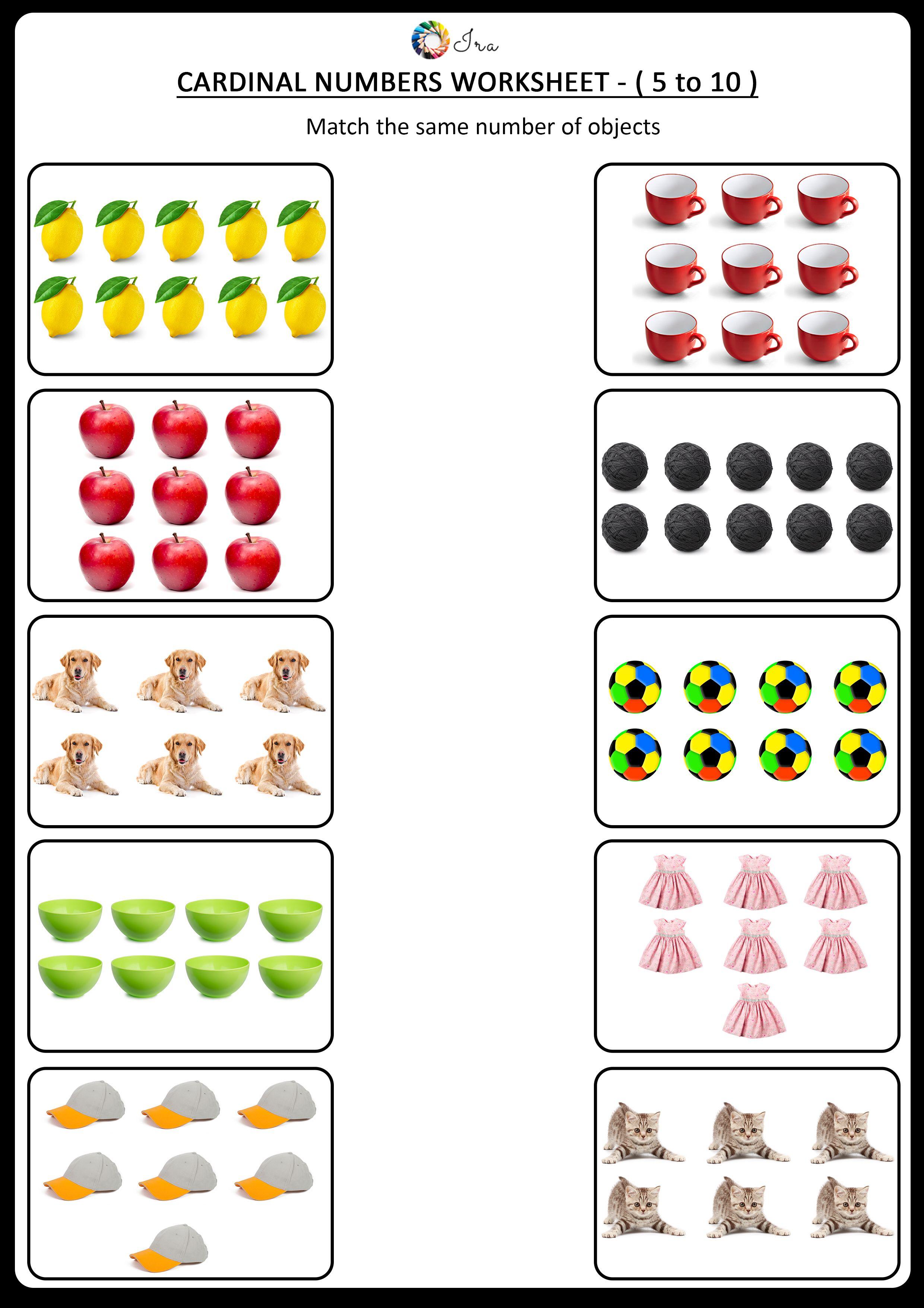 Same Number Worksheets Kindergarten