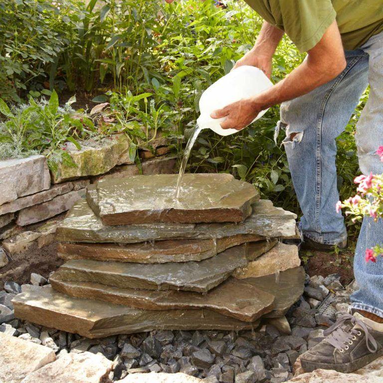 How to build a backyard waterfall in 2020 waterfalls