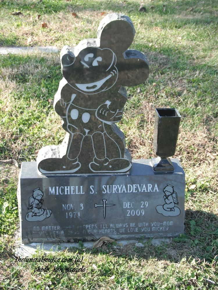 The Mickey Mouse Headstone of Michell