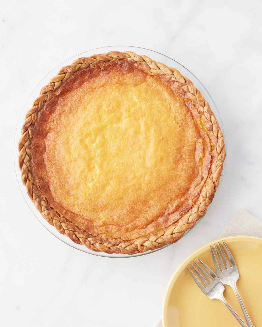 """Lemon zest and vanilla extract give the tangy buttermilk filling incredible depth of flavor. Martha made this recipe on """"Martha Bakes"""" episode 712."""