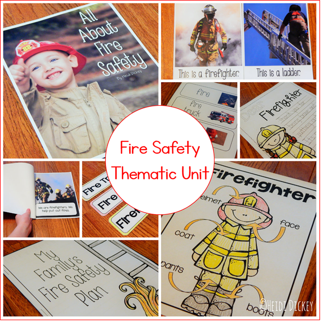 Fire Safety Month Thematic Unit Activities