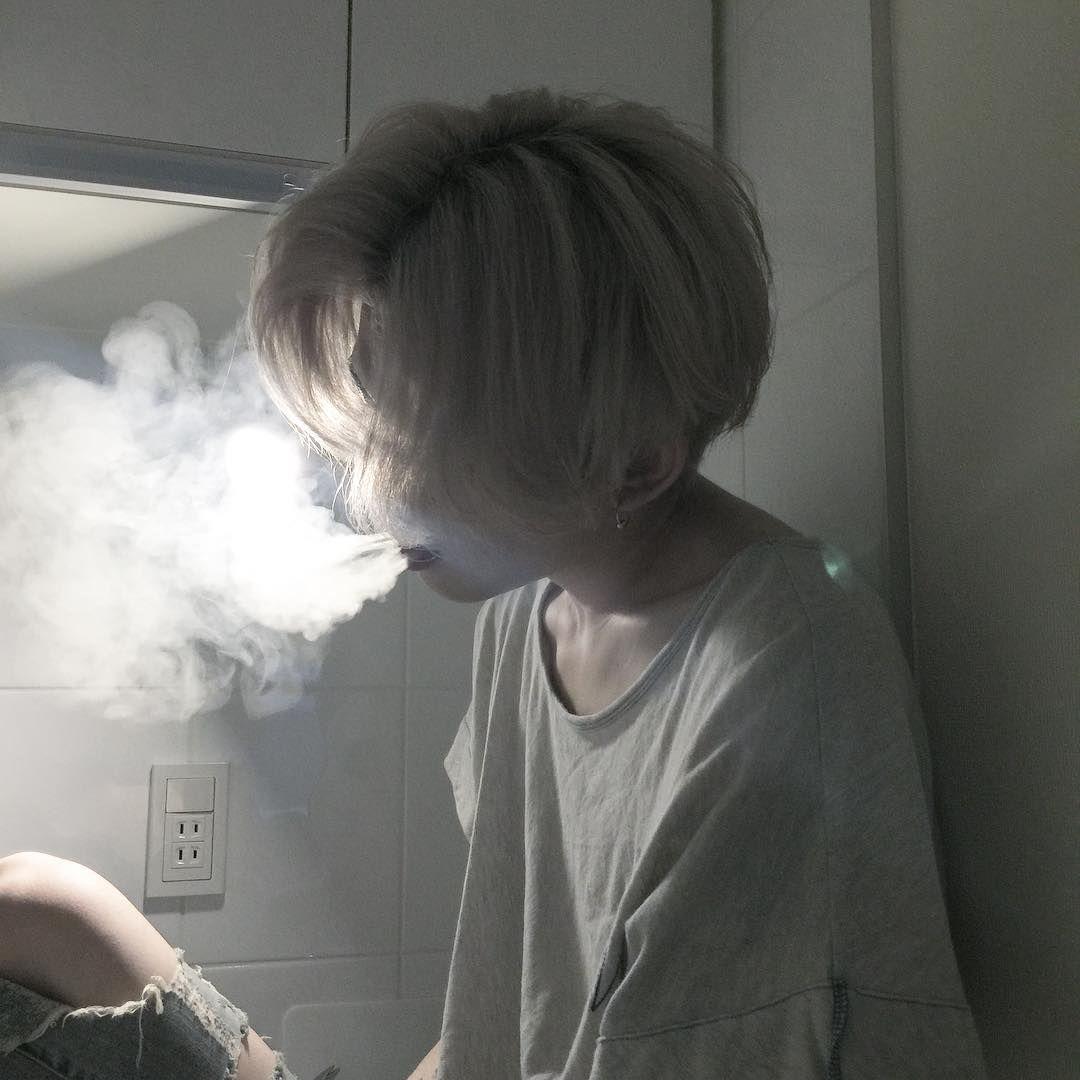 With asian boy smoking apologise