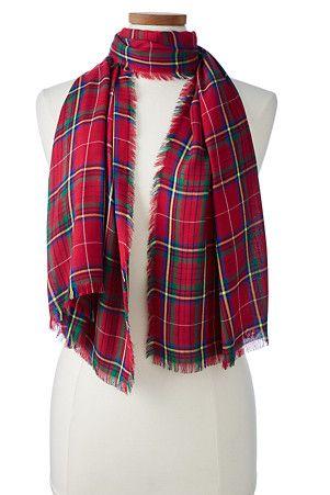 womens christmas plaid scarf - Christmas Plaid Scarf