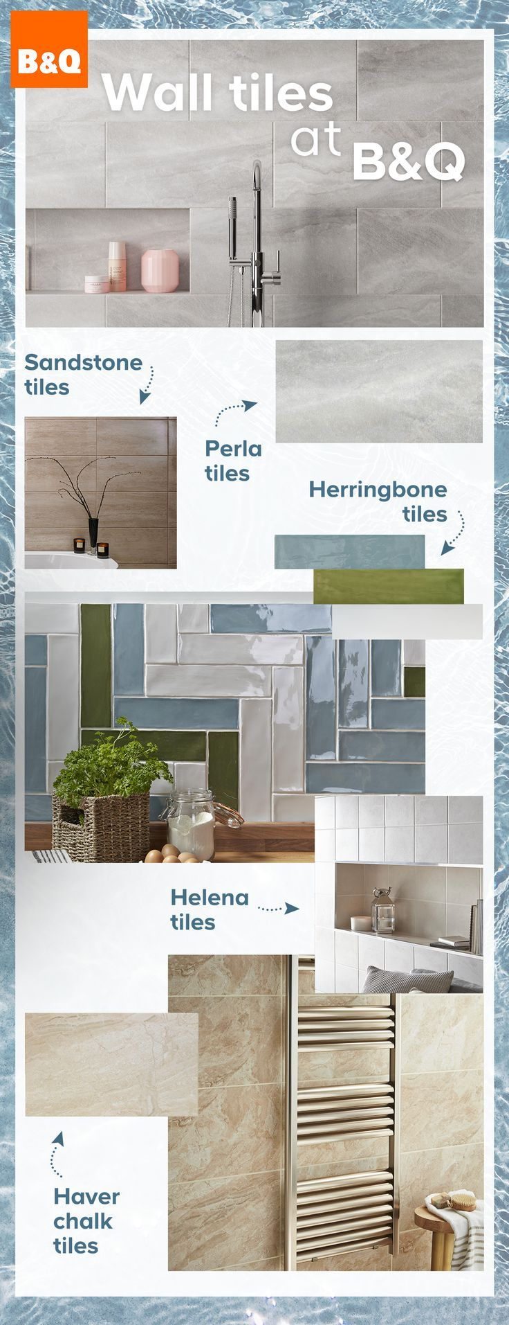 Dynamic ceramic! B&Q have tons of NEW wall tiles for you ...