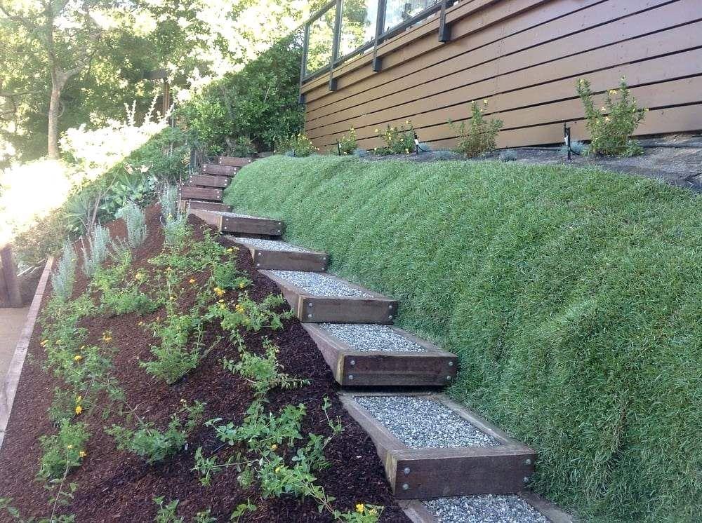Landscaping Hillside Ideas Garden Design With Natives Mulch Drought Tolerant Steps Hillside With Sma Landscaping Retaining Walls Home Landscaping Sloped Garden