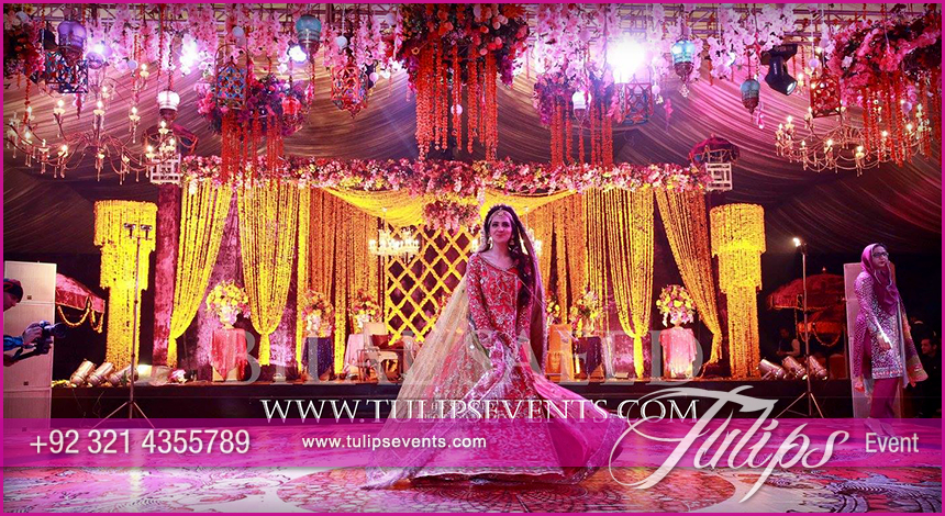 Tulips event - Best Pakistani wedding stage decoration ...