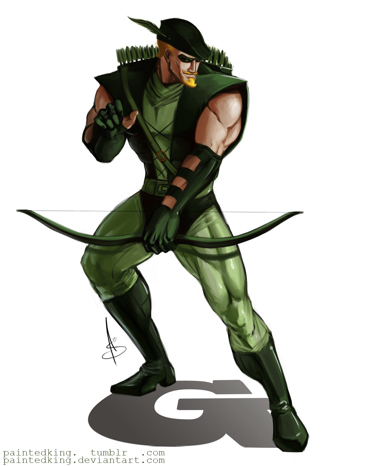 Green Arrow Oliver Queen By Andrew Phillips Comic Book